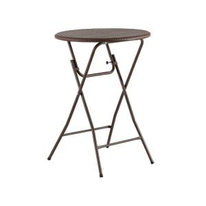 China 80cm Round Plastic Bar Height Folding Table 110cm Height Easy To Storage on sale