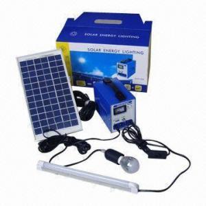 China Portable solar home lighting kit, 12Ah/12V battery on sale
