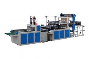 China Fully Automatic Plastic Handle Bag Making Machine on sale