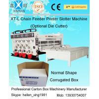 Semi Automatic Paper Corrugated Box Making Machinery 11kw Of Printing Slotting