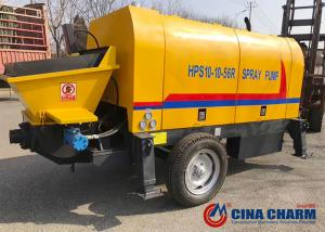 China High Reliability Trailer Mounted Concrete Pump Easy To Move For Small Construction Projects on sale