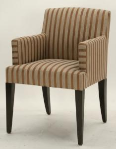 China Fabric upholstery beech wood dining chairs ,wooden arm chair,side chair for dining rooms on sale