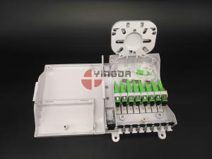 China FTTH CPE Fiber Optic Termination Box With 1/8 Splitter SC G657A2 Corning LSZH on sale