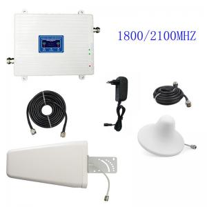 China 3G 4G Cell Phone Signal Repeater FDD LTE 1800/2100MHz UMTS/HSPA Booster Amplifier on sale