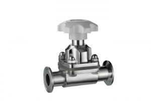 China Tri - Clover / Clamp Diaphragm Stainless Steel Valves EPDM Sealing For Food / Brewery on sale