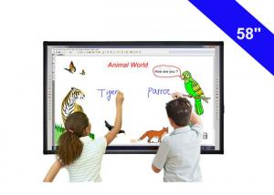 China 58 Digital Touch Screen Interactive Whiteboard In The Classroom USB Cable Power Supply on sale