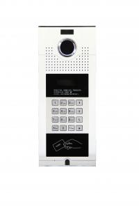 China 4 wired keypad silver apartment building video door phone waterproof outdoor station by remote door release on sale