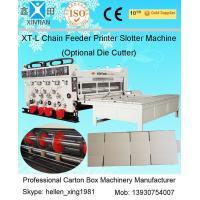 Automatic Chain Feeder Flexo Printer Slotter Machine / Carton Box Making Machine