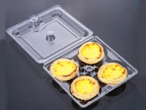 China 2/4/6 egg tarts transparent plastic packaging box 2 to 6 egg tarts packaged in a blister box on sale