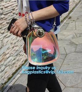 China adjustable shoulder strap women nylon pvc tote bag, Summer Beach Clear PVC Shoulder Bag DIY Transparent Clutch Tote Bag on sale