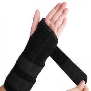 China Black Elastic Wrist Brace Splint Carpal Tunnel Support S , M , L Size on sale