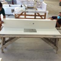 Home Quartz Stone Countertop , Granite Kitchen Countertop Vanity Top Resistant Cracks