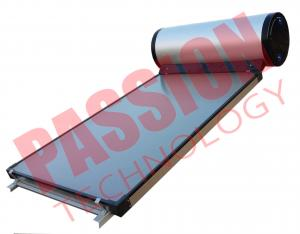 China Flat Plate Collector Solar Water Heater / Thermal Hot Water Heater Direct Plug Connection on sale