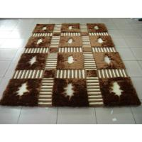 Structured Mulit Polyester Silk Mixed With Acrylic Silver Yarn Shaggy Carpet China Rug