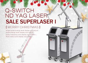 China Long Pulsed Q Switched Nd Yag Laser Tattoo Melasma Removal Carbon Peeling Machine on sale