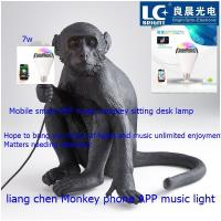 APP bluetooth music bulb lamp Modern designer personality creative monkey wall lamp living room bedroom decorative light