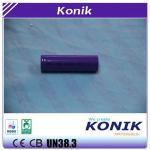 Garantia da segurança da bateria 3.7V 2000mah do Li-íon de Konik 18650