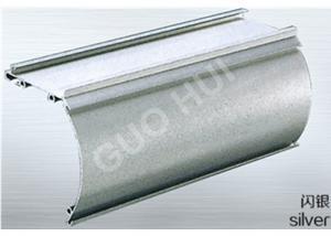 China Perfiles de aluminio anodizados de las protuberancias de la voladura de arena para el color plata 06 de la cortina # on sale