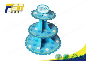 China Light Weight Cardboard Cake Display Multi Tiers Customized Size For Wedding on sale