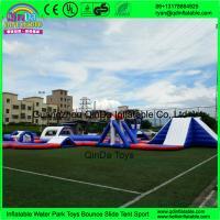 New aqua park equipment inflatable island inflatable water park