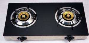 China Electric Ignition Table Top Gas Stove With Tempered Glass Panel on sale