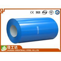 Blue Prepainted Galvanized Color Steel Coil PPGL Coils 700-1250mm Width