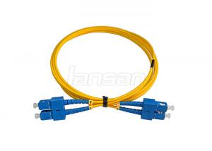 China 1 Meter SC Fiber Optic Patch Cord 8 Degree UPC Duplex OM4 50 / 125 Jumper on sale