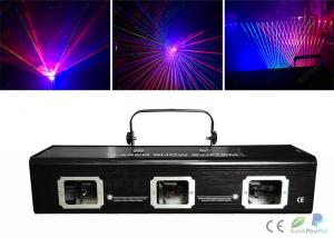 China Dmx512 Rgbw 3 Heads Laser Dj Light / Laser Light Show Equipment on sale