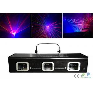 China Dmx512 Rgbw 3 Heads Laser Dj Light / Laser Light Show Equipment on sale
