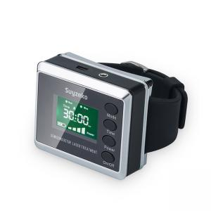 China Diabetes Cure Red And Blue Color Manufacture Wrist Low Level Laser Therapy Watch on sale