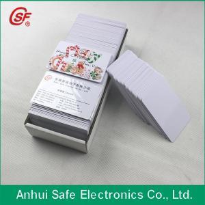 China inkjet blank white pvc card on sale