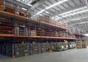 China Warehouse Mezzanine Racking System , Steel Industrial Shelving Systems on sale