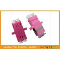 LC Duplex OM4 , LC Fiber Optic Cable Adapter Plastic Purple Quad Fibers