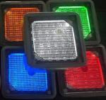 » la brique de aménagement solaire rouge de machine à paver de jaune blanc carré du vert 4x4 bleu allume des lumières de voie d'acier inoxydable