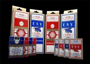 China 12 Decks Custom Poker Cards Both Sides , 63*88mm / 57*87mm Playing Card Set on sale