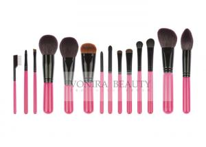 China 14 PCS Pink Deluxe CosmeticMakeup Brush Collection With Exquisite Nature Bristles on sale