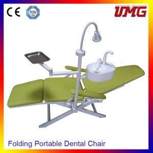 China Dentist chair price mobile dental chair with halogen tungsten lamps on sale
