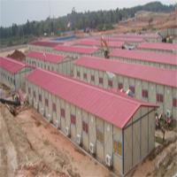 China one floor 4Kx12Kx3P woker camp prefabricated house with greywhite and red color on sale