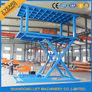 China Indoor / Outdoor Double Car Parking Hydraulic Platform Lift 1 ton - 20 ton Load Capacity Custom on sale