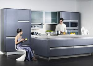 wooden frame blue lacquer finish kitchen cabinets with frost glass rh modernkitchencabinets sell everychina com