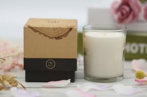 China Pleasant Fragrance Home Scented Candles With Kraft Paper Rigid Gift Box on sale