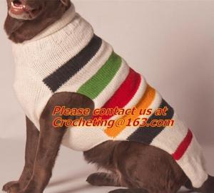 China Easy knit dog sweater, fashion knit pet sweater,dog sweater, Striped Pulllover Pet dog on sale