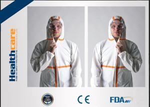 China Lightweight Disposable Protective Coveralls Custom Size With Hood For Painters on sale