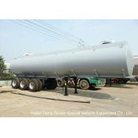 Steel Lined PE Road Chemical Tank Trailers For Transport Bleach , Hydrochloric Acid