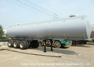 China Steel Lined PE Road Chemical Tank Trailers For Transport Bleach , Hydrochloric Acid supplier