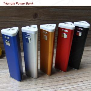 China 2600mAh Triangle Shape Aluminum Wholesale Portable Power Bank, Custom Logo Phone Charger on sale