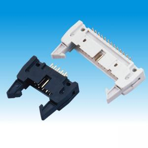 China Ejector Straight Pin Header Long Latch For Print Circuit Board 2.54mm Pitch on sale