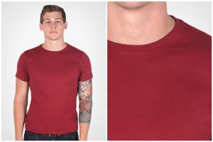 China Slim Fit T Shirts Mens Polyester Spandex T Shirts for sublimation on sale