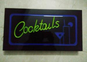 China Cocktails Illuminated Indoor Sign Letters With Four Display Modes Window Signage on sale
