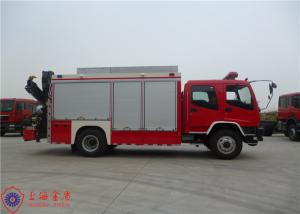 China ISUZU Chassis Rescue Fire Truck Max Speed 95KM/H Traction Rope Length 28M on sale